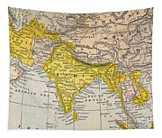 Asia Map, 19th Century Tapestry
