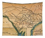 Underground Railroad Map Tapestry
