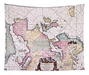 Map: European Coasts, 1715 Tapestry