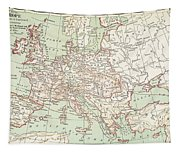 Map Of Europe, C1812 Tapestry