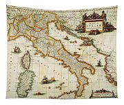 Map Of Italy, 1631 Tapestry