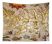 Iceland: Map, 1595 Tapestry
