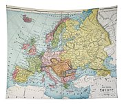 Map: Europe, 1885 Tapestry