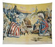 G. Cleveland Cartoon, 1896 Tapestry