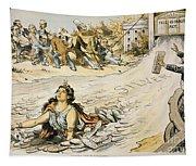 Free Silver Cartoon, 1890 Tapestry