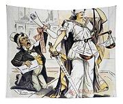Justice Cartoon Tapestry
