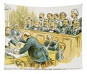 Litigation Cartoon Tapestry