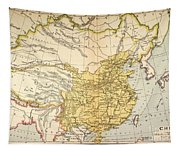 Map: China, 1910 Tapestry