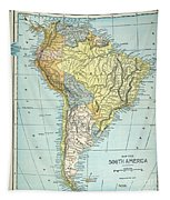 South America: Map, C1890 Tapestry