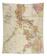 Map: Philippines, 1905 Tapestry