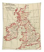 Map: British Isles, C1890 Tapestry