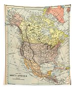 Map: North America, 1890 Tapestry