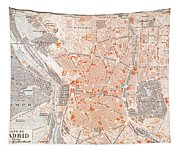 Spain: Madrid Map, C1920 Tapestry