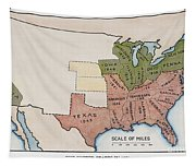 United States Map, 1854 Tapestry