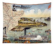Mississippi Steamboat Tapestry