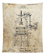 1903 Wine Press Patent Tapestry