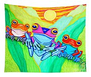 3 Little Frogs Tapestry