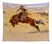 A Cold Morning On The Range Tapestry