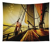 A Day On The Lake Tapestry