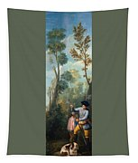 A Hunter Loading His Shotgun Tapestry