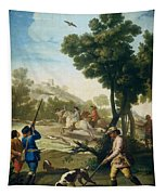 A Hunting Party Tapestry