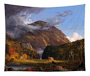 A View Of The Mountain Pass Called The Notch Of The White Mountains Tapestry
