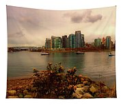 A View Of Vancouver Tapestry