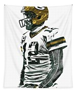 Aaron Rodgers Green Bay Packers Pixel Art 5 Tapestry