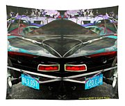 Abstract Black Car Tapestry