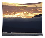 Alaskan Coast Sunset, View Towards Kosciusko Or Prince Of Wales  Tapestry