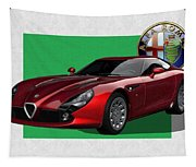 Alfa Romeo Zagato  T Z 3  Stradale With 3 D Badge  Tapestry