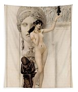 Allegory Of Sculpture Tapestry