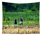Amish Brother And Sister Tapestry