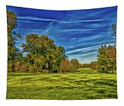 An Autumn Golf Day Tapestry