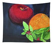 Apple, Orange And Red Basil Tapestry