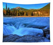 Athabasca Falls In Jasper National Park Tapestry