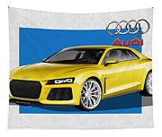 Audi Sport Quattro Concept With 3 D Badge  Tapestry
