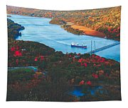 Autumn Along The Hudson Tapestry