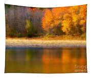 Autumn At Sawmill Lake Tapestry