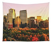 Autumn In Calgary Tapestry
