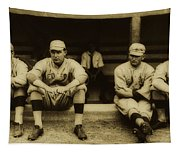 Babe Ruth On Far Left With The Boston Red Sox 1915 Tapestry