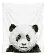 Baby Panda Watercolor Tapestry