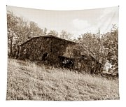 Back When Barn Sepia Tapestry