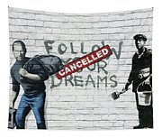 Banksy - The Tribute - Follow Your Dreams - Steve Jobs Tapestry