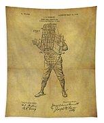 Baseball Catcher's Mask Patent Tapestry