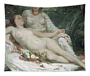 Bathers Or Two Nude Women Tapestry