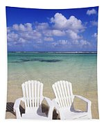 Beach Chairs Tapestry