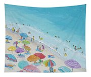 Beach Painting - Summer Love Tapestry