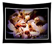 Bee On Apple Blossoms Tapestry