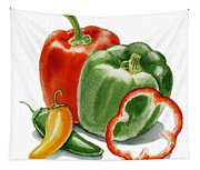 Bell Peppers Jalapeno Tapestry